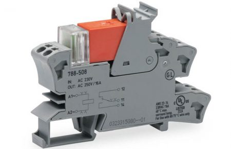 Rail mount relay 230Vac 1CO250V16A