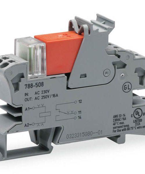 Rail mount relay 230Vac 1CO250V16A