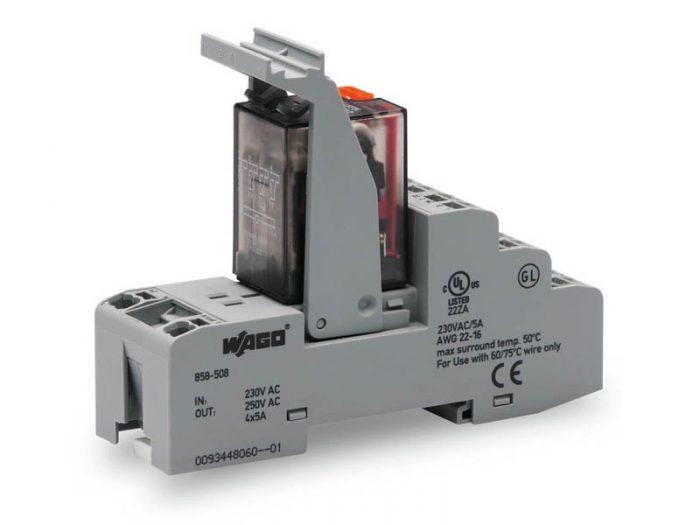 Rail mount relay 230Vac 4CO250V5A
