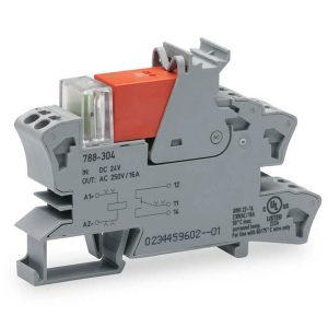 Rail mount relay 24Vdc 1CO250V16A