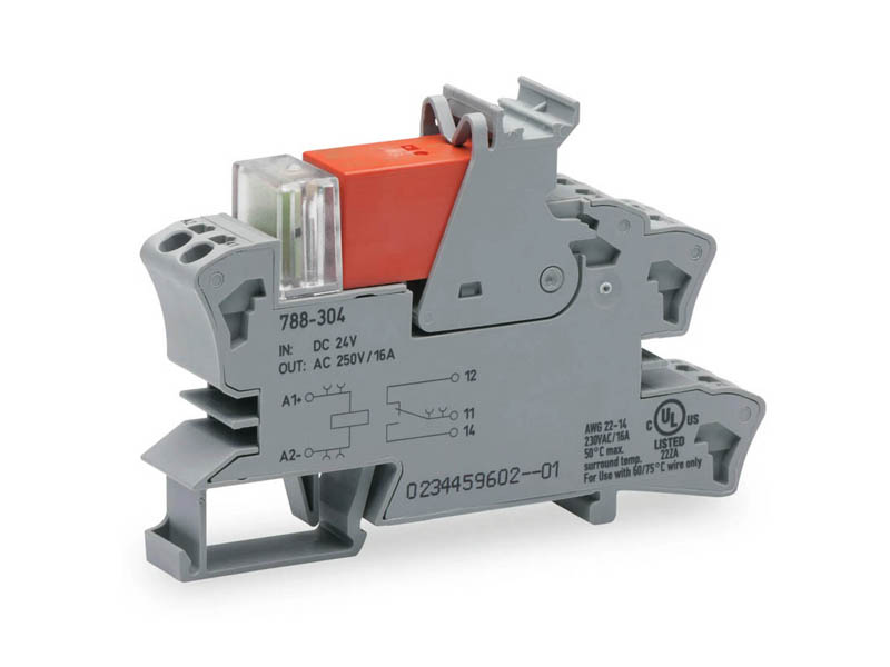 Rail mount relay 24Vdc 1CO250V16A