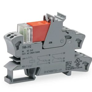 Rail mount relay 24Vdc 2CO250V8A