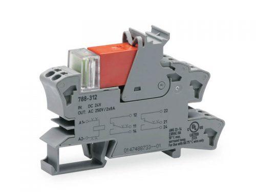 Rail mount relay 24Vdc 2CO250V8A