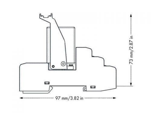 Rail mount relay 24Vdc 4CO250V5A