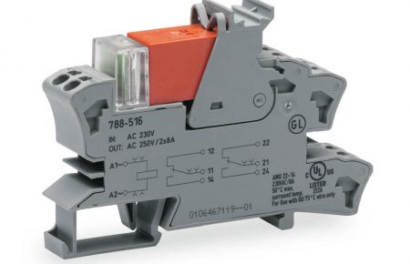 Rail mount relay 230Vac 2CO250V8A